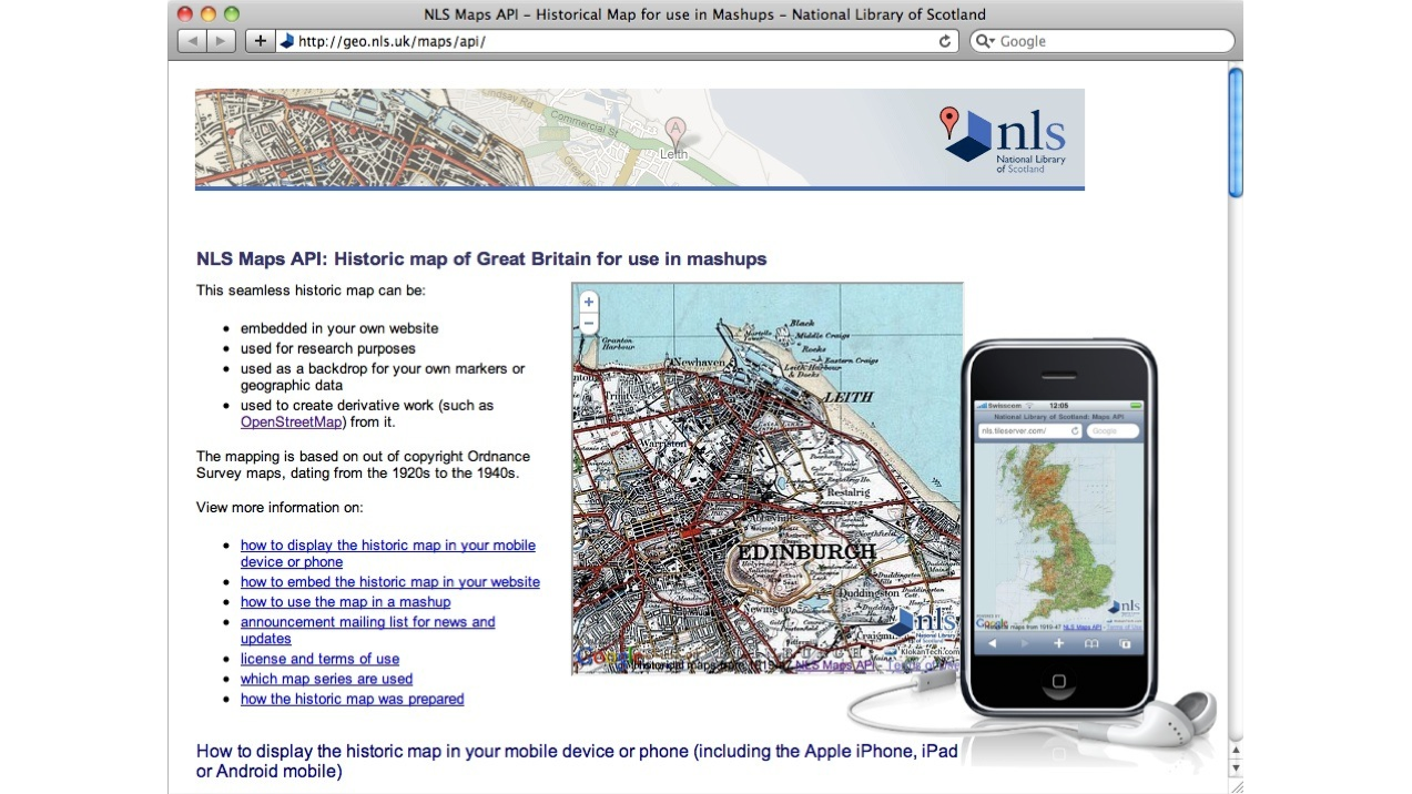 National Library of Scotland: IIPImage server