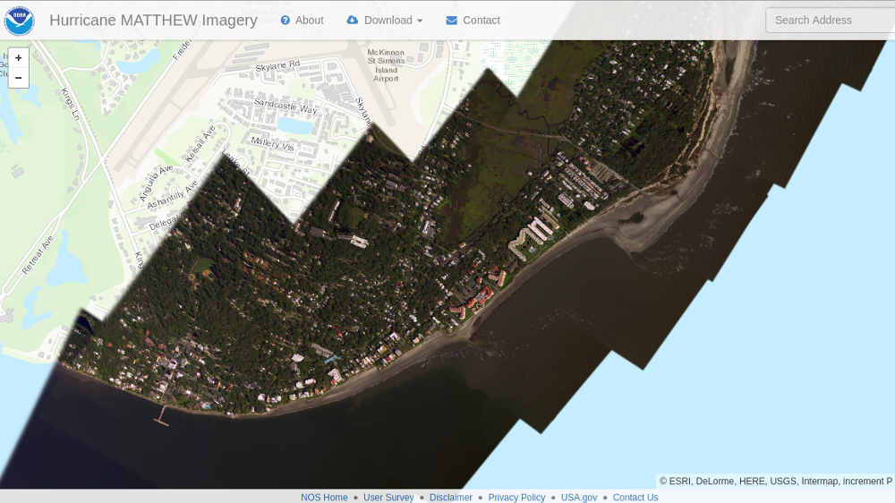 MapTiler helps people to recover from the Hurricane Matthew