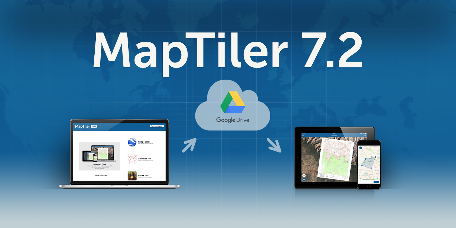 MapTiler 7.2: Mobile apps via Google Drive image