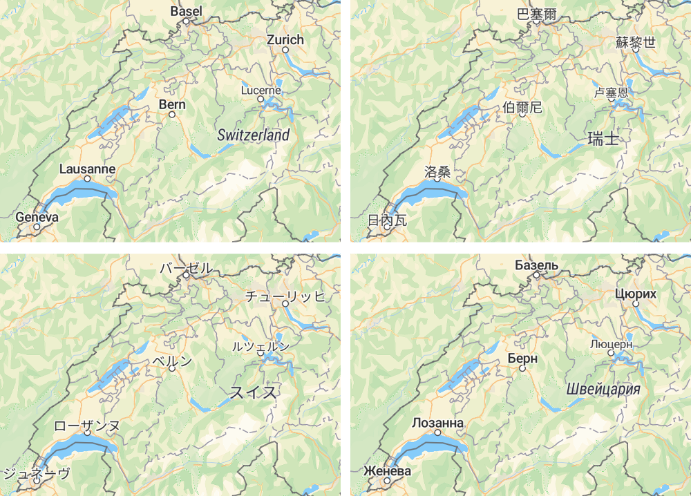 Maps in the language of visitor