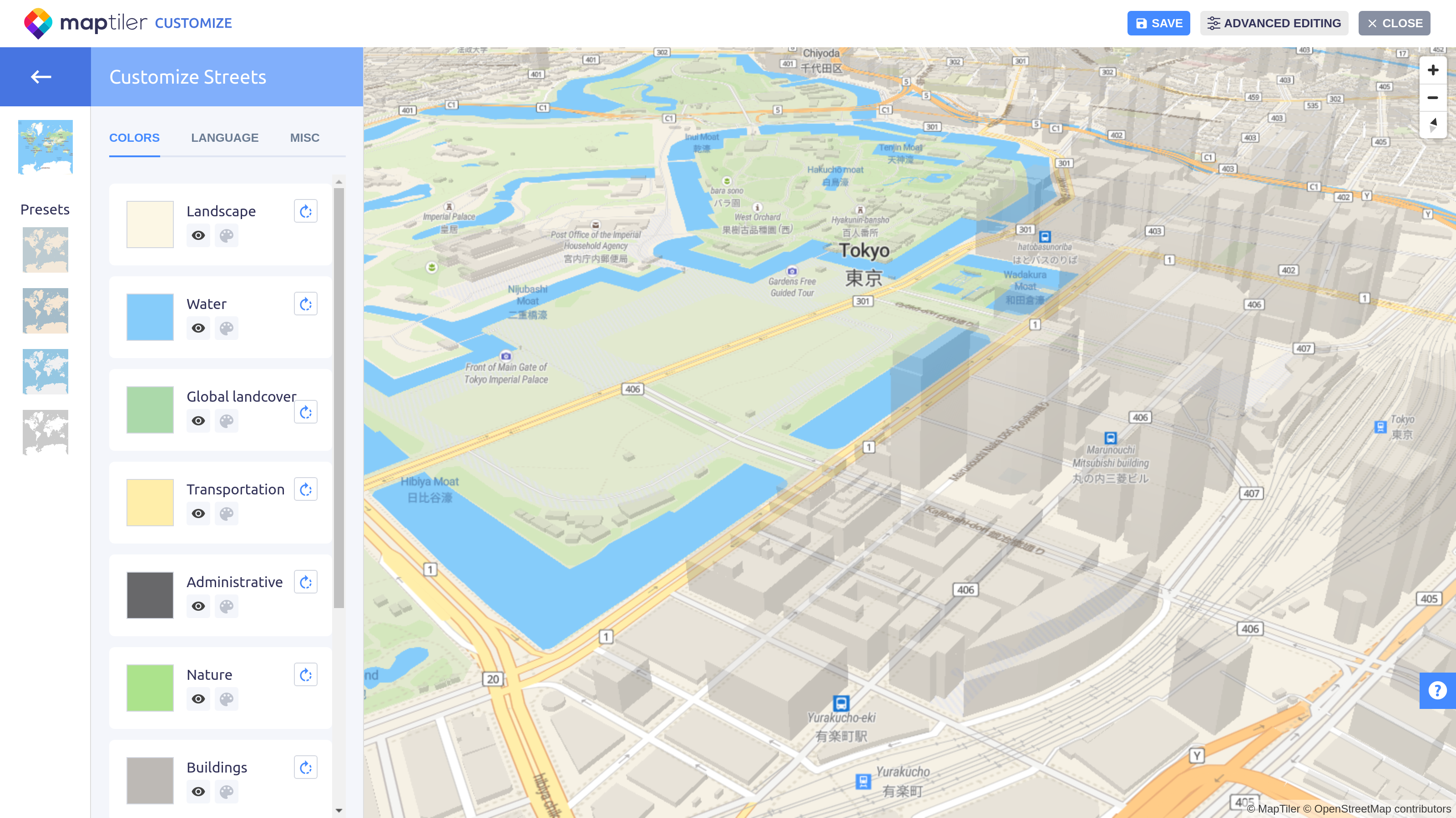 Design own map with five clicks – MapTiler News