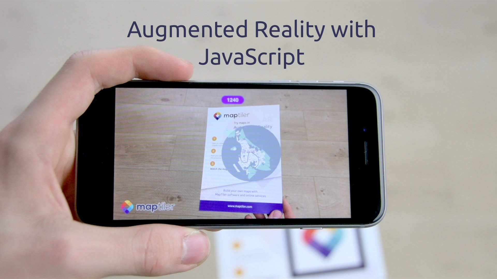 Maps in Augmented Reality with JavaScript