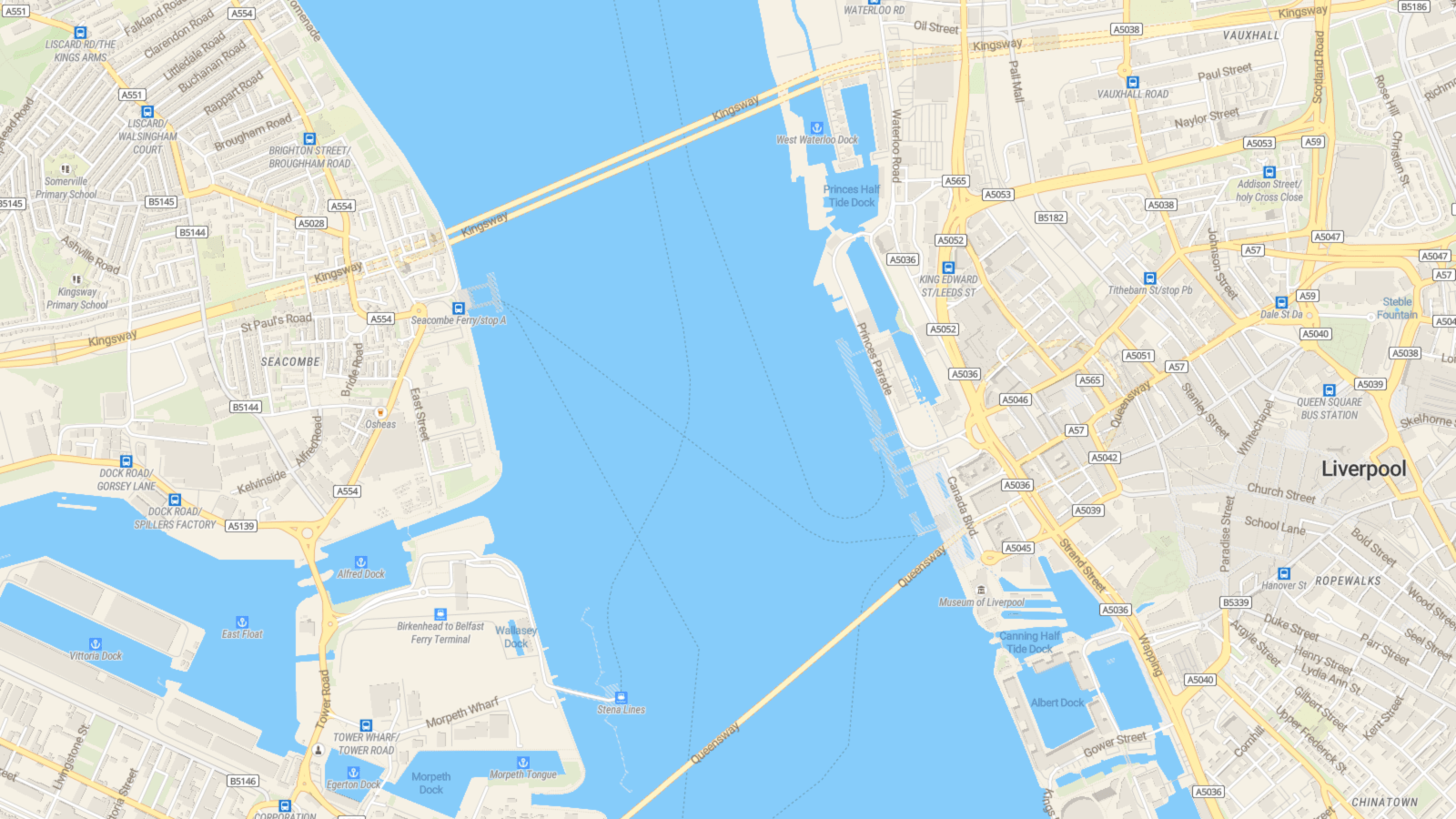OpenMapTiles Liverpool